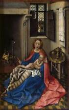 Photo Print Madonna with the Child by a Fireplace Master Of Flmalle - in vari