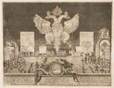 A4+ Size Print:Schoonebeeck Adriaan Fireworks In Moscow On 1 January 1704 On Occ
