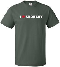 I HEART ARCHERY Cool Bow and Arrow Middle Age Sport LOVE T-Shirt