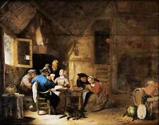 Photo Print Interior with Peasants Playing Cards Sorgh, Hendrick Maertensz. - in