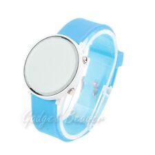 LED Watch, Big Face Mirror Design, Silicone Wrist Strap,Men's,Women's,Unisex