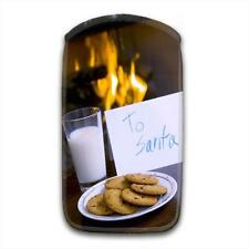 Milk & Cookies in Front of Fireplace with Note to Santa Mobile Phone Sock