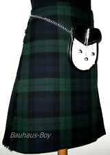 "8 YARD CASUAL SCOTTISH KILT BLACK WATCH TARTAN SIZES 30"" - 48"" 16OZ WEIGHT KILTS"