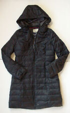 NWT New AMERICAN EAGLE Long Puffer Jacket Coat Hoodie Black Jr Womens Sz M - XL