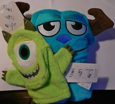 MiKe WaZoWsKi~Face~BATH MITT~OR~SuLLeY~FaCe~HoRn~HooDeD ToWeL~Disney Store