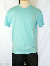Polo Ralph Lauren Aqua T-Shirt Polo Pony 100% Cotton M L XL XXL NWT