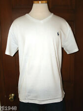 Polo Ralph Lauren White V-Neck T-Shirt Polo Pony  S M L XL XXL NWT