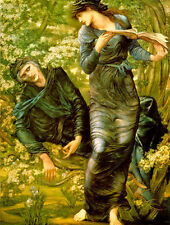 Art Print - Burne Jones Beguiling Of Merlin - Edward Burne Jones 1833 1898