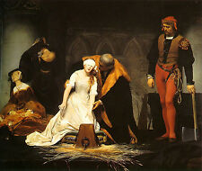 Art Photo Print - Execution Of Lady Jane Grey - Paul Delaroche 1797 1856