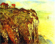 Art Photo Print - Cliffs Near Dieppe - Monet Claude 1840 1926