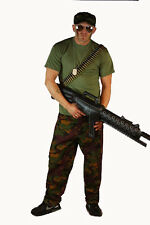 D/D Solider Army Man Fancy Dress Costume Camo Guy Accessories
