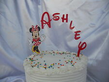 Minnie Mouse Red Dress PERSONALIZED cake topper or ANY character Cake Decoration