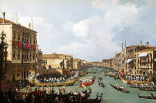 Photo/Poster - Regate Sur Le Grand Canal - Canaletto 1697 1768