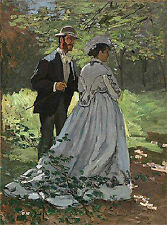 Art Photo Print - Walkers Bazille And Camille - Monet Claude 1840 1926