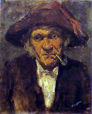 Art Photo Print - Old Man Smoking - Whistler James Abbott Mcneill 1834 1903
