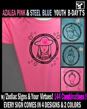 Cancer Horoscope Zodiac Astrology Sign Azalea PINK / Youth  Birthday Tee shirt