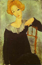 Art Print - Woman With Red Hair - Modigliani Amedeo 1884 1920