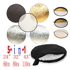 "24"" 32"" 43"" 5-in-1 Light Multi Collapsible disc Reflector 60cm 80cm 110cm"