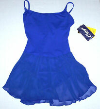 NWT New Capezio Leotard Dress Camisole Cami Skirt Shelf Bra Blue Nice Cute Adult