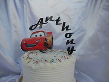 Pixar Cars Mcqueen PERSONALIZED cake topper or ANY character Cake Decoration