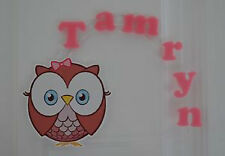 Cute Girl Pink Owl PERSONALIZED cake topper or ANY character Cake Decoration