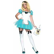 Enchanted Alice in Wonderland Adult Fancy Dress Halloween Costume Std/Plus Sizes