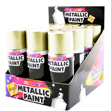 BRAND NEW 1 X METALLIC SILVER /GOLD SPRAY PAINT INTERIOR AND EXTERIOR QUALITY.