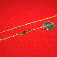 14kt 1/20 GOLD FILLED 1.5mm ROPE Chain NECKLACE Economical alternative to Gold!