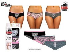 Big Bang Theory Soft Kitty Sheldon Cooper Licensed Ladies 3 pack Panty S-XL