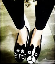 Personality cat dog velvet shoes with flat sole EUR35-EUR39