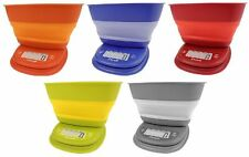 Escali Pop 11lb / 5000g Collapsible Bowl Digital Kitchen Food Scale NEW 2013