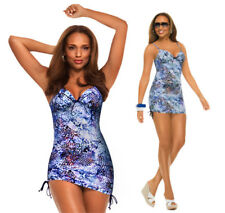 Spanx Python Blue Nile Bra llelujah One Piece Swimdress Swimsuit