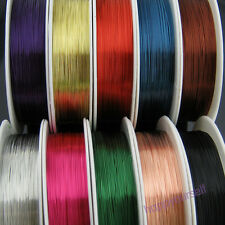 20m Beading Thread Copper Brass Cords Wire Jewelry Making 0.3mm Thick Multicolor