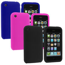 Color Silicone Rubber Gel Skin Case Cover Accessory for Apple iPhone 3G 3GS