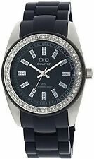NEW Q&Q ASSORTED LADIES CRYSTAL BEZEL GQ13J202Y GQ13J212Y FASHION Wristwatch $75