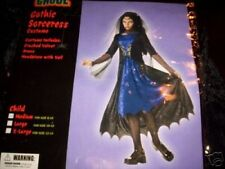 Gothic Witch Sorceress Black Costume Dress-up 8-10 10-12 NWT