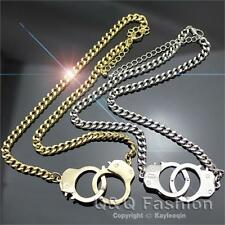 Chic Celebrity Charm Handcuff Cuff Shackles Chain Chunky Choker Necklace kitsch