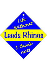 Leeds Rhinos -  Car / Window Sign or Slap-on magnets Free UK p/p