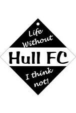 Hull FC Car / Window Sign or Slap-on magnets Free UK p/p