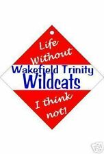 Wakefield Trinity Wildcats Car / Window Sign or Slap-on magnets Free UK p/p