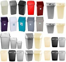 SMALL 10L 30L 50L LITER PLASTIC SWING TOP BIN WASTE DUSTBIN OFFICE KITCHEN BIN