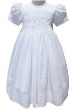 New Beautiful Girls Ariana's Celestial White Hand Smocked Dress 17371