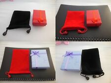 choose!Black and red velvet jewelry drawstring bag。For Jewelry/small objects #rd