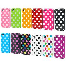 TRIXES Polka Dots Series Soft Gel Case Cover Skin for Apple iPhone 4 4S 4G