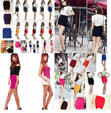 12 Colors Women Lady's A-Line Mini Pleated SKIRT Slim Fit Seamless Stretch Tight