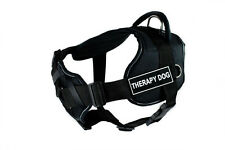 DT FUN w/ Chest Support Working Dog Harness reflective trim - THERAPY DOG