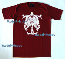 GRAPHIC T-Shirt Dark Red Size M L XL X-RAY SKELETON LUNG JOYSTICK HIPHOP BOARD