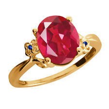 2.52 Ct Last Dance Pink Mystic Quartz Sapphire Gold Plated 925 Silver Ring