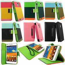 Samsung Galaxy S2 Epic 4G Touch D710 Sprint PU Leather Wallet Flip Case Pouch