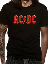 AC/DC Red Logo T-shirt (Black) Mens New 'Official'